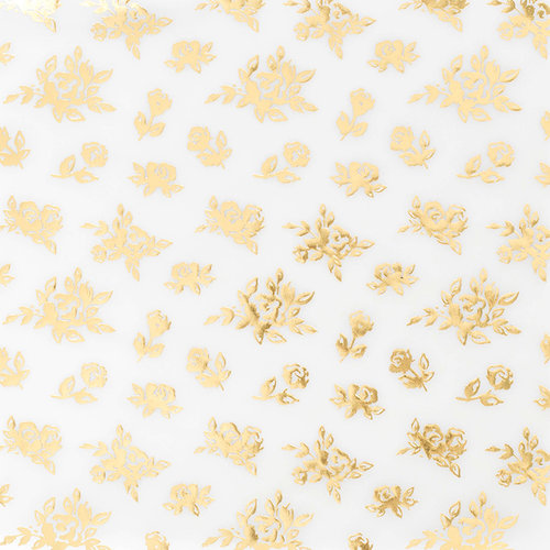 Crate Paper - Maggie Holmes Collection - Bloom - 12 x 12 Vellum Paper - Gold Foil