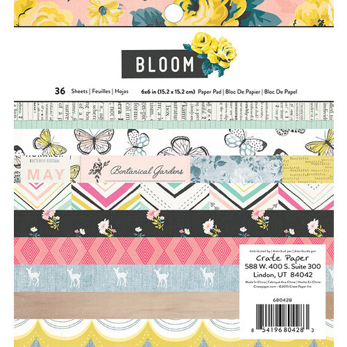 Crate Paper - Bloom Collection - 6 x 6 Paper Pad