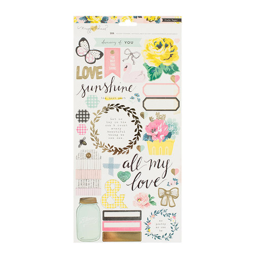 Crate Paper - Maggie Holmes Collection - Bloom - Cardstock Stickers - Accents