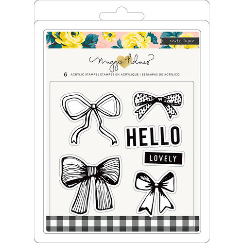 Crate Paper - Bloom Collection - Clear Acrylic Stamps - Hello