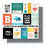 Crate Paper - Cool Kid Collection - 12 x 12 Double Sided Paper - Run and Jump