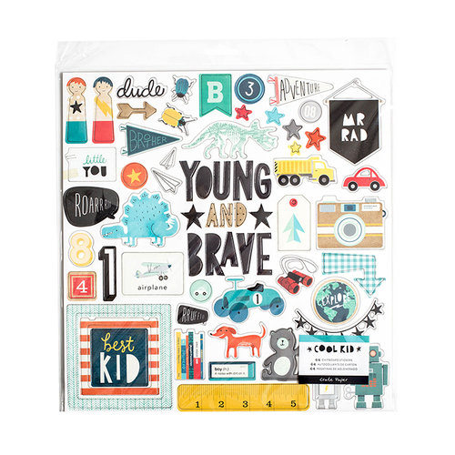 Crate Paper - Cool Kid Collection - Chipboard Stickers