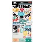 Crate Paper - Cool Kid Collection - Cardstock Stickers with Foil Accents