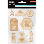 Crate Paper - Cool Kid Collection - Wood Embellishments