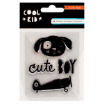 Crate Paper - Cool Kid Collection - Clear Acrylic Stamps - Mini Set