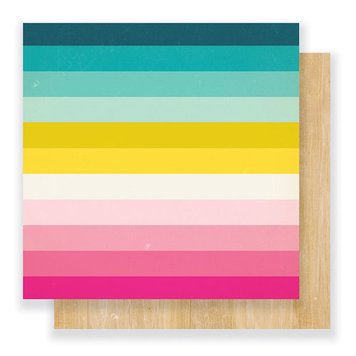 Crate Paper - Cute Girl Collection - 12 x 12 Double Sided Paper - Rainbows