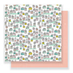 Crate Paper - Cute Girl Collection - 12 x 12 Double Sided Paper - Make Believe