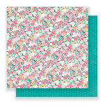 Crate Paper - Cute Girl Collection - 12 x 12 Double Sided Paper - Fancy