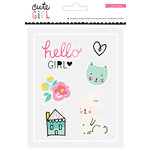 Crate Paper - Cute Girl Collection - Rubber Accents