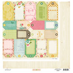 American Crafts - Crate Paper - Pretty Party Collection - 12 x 12 Double Sided Paper - Tag Cuts