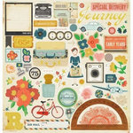 American Crafts - Crate Paper - Story Teller Collection - 12 x 12 Chipboard Stickers - Accents