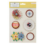 American Crafts - Crate Paper - Story Teller Collection - Stand Outs - Layered Stickers and Wheels