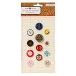 American Crafts - Crate Paper - Story Teller Collection - Eclectic Buttons