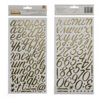American Crafts - Crate Paper - On Trend Collection - Thickers - Foil Alphabet Stickers - Rainboots - Gold