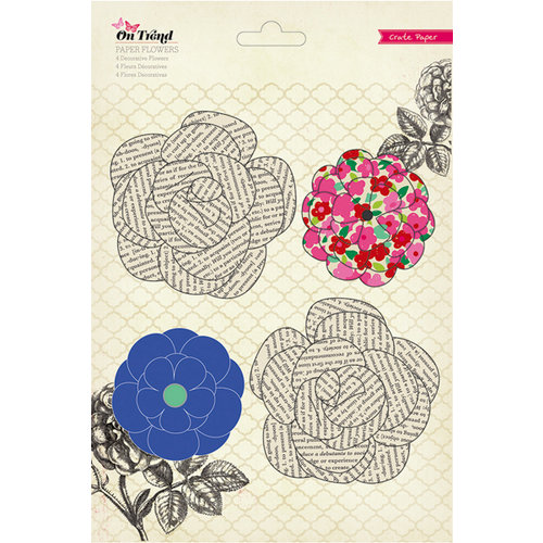 American Crafts - Crate Paper - On Trend Collection - Paper Flowers