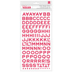 American Crafts - Crate Paper - Fourteen Collection - Thickers - Glitter Chipboard - Fantastic - Pink