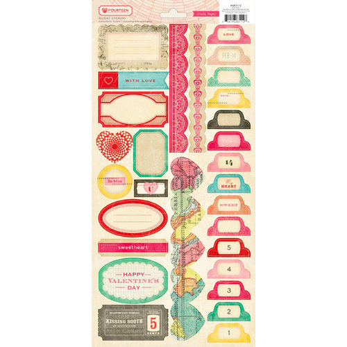 American Crafts - Crate Paper - Fourteen Collection - Cardstock Stickers - Borders and Tabs