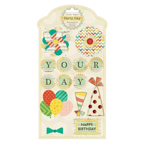 American Crafts - Crate Paper - Party Day Collection - Standouts