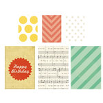 American Crafts - Crate Paper - Party Day Collection - Vellum Bags