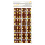 American Crafts - Crate Paper - DIY Shop Collection - Thickers - Printed Chipboard Stickers - Flashcard - Yellow