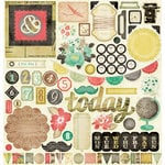 American Crafts - Crate Paper - DIY Shop Collection - 12 x 12 Chipboard Stickers
