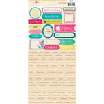 American Crafts - Crate Paper - Maggie Holmes Collection - Cardstock Stickers - Mini Alphabet