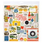Crate Paper - Open Road Collection - 12 x 12 Chipboard Stickers