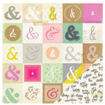 Crate Paper - Notes and Things Collection - 12 x 12 Double Sided Paper - Signed