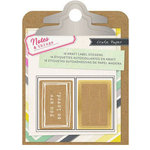 Crate Paper - Notes and Things Collection - Kraft Label Stickers
