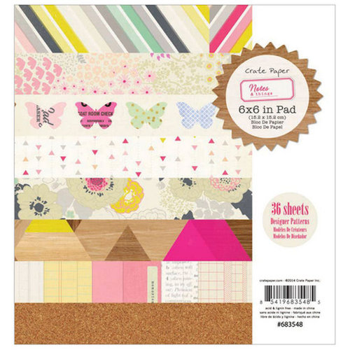 Crate Paper - Notes and Things Collection - 6 x 6 Paper Pad