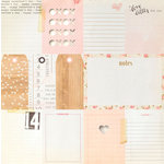 Crate Paper - Kiss Kiss Collection - 12 x 12 Cutouts Paper with Gold Foil Accents