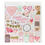 Crate Paper - Kiss Kiss Collection - 12 x 12 Chipboard Stickers