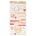 Crate Paper - Kiss Kiss Collection - Cardstock Stickers - Accents