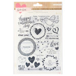 Crate Paper - Kiss Kiss Collection - Rub Ons