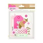 Crate Paper - Kiss Kiss Collection - Layered Die Cut Tags