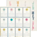 Crate Paper - Craft Market Collection - 12 x 12 Double Sided Paper - Calendar