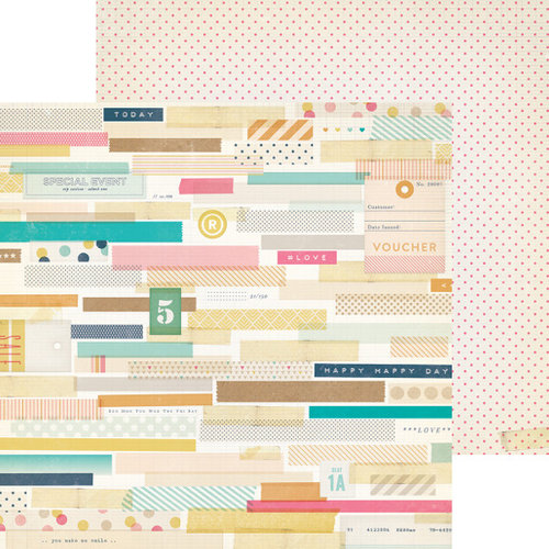 Crate Paper - Craft Market Collection - 12 x 12 Double Sided Paper - Thrifty