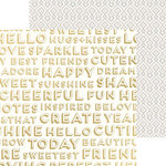 Crate Paper - Craft Market Collection - 12 x 12 Double Sided Paper with Foil Accents - Inspired
