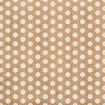 Crate Paper - Craft Market Collection - 12 x 12 Burlap - Polka Dot