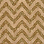 Crate Paper - Craft Market Collection - 12 x 12 Burlap with Glitter Accents - Chevron