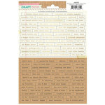 Crate Paper - Craft Market Collection - Cardstock Stickers - Words and Phrases