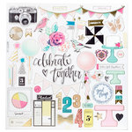 Crate Paper - Confetti Collection - 12 x 12 Chipboard Stickers with Foil Accents