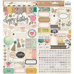 Crate Paper - Confetti Collection - Cardstock Stickers - Journaling and Titles