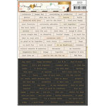 Crate Paper - Confetti Collection - Cardstock Stickers - Tiny Phrases
