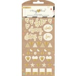 Crate Paper - Confetti Collection - Puffy Stickers - Gold