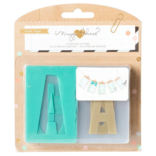 Crate Paper - Confetti Collection - Acetate Letter Set