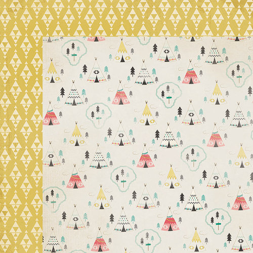 Crate Paper - Journey Collection - 12 x 12 Double Sided Paper - TeePee