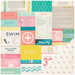 Crate Paper - Poolside Collection - 12 x 12 Double Sided Paper - Admit One