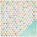 Crate Paper - Poolside Collection - 12 x 12 Double Sided Paper - Snow Cones