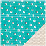 Crate Paper - Poolside Collection - 12 x 12 Double Sided Paper - Splash